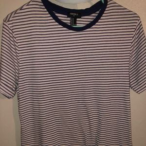 Navy striped t shirt
